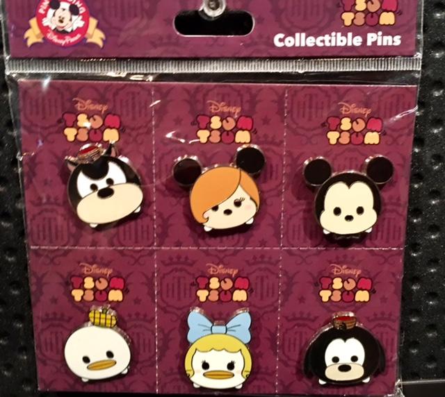 Tsum Tsum Hollywood Tower Hotel Pin Set