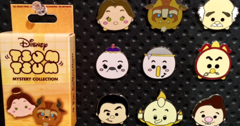 Tsum Tsum Beauty and the Beast Pin Set