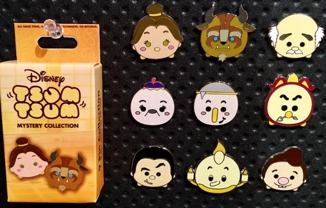 Tsum Tsum Beauty and the Beast Pin Set