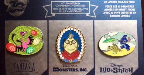Disney Store 30th Anniversary Pins Week 5