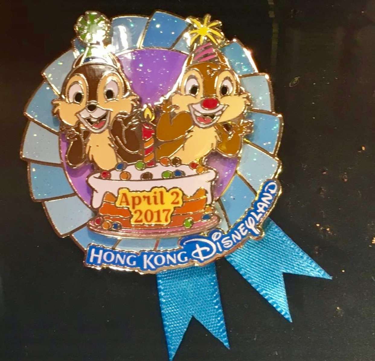 Chip & Dale 2017 Birthday Pin