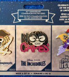Disney Store 30th Anniversary Pins Week 6