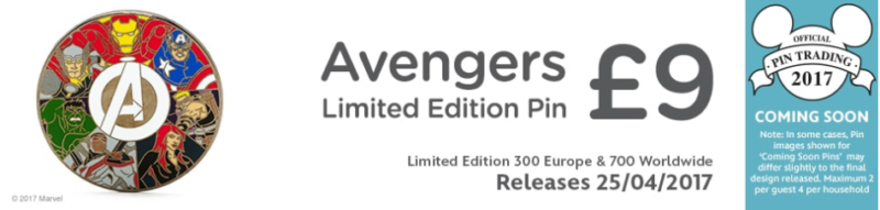 Avengers Pin - Disney Store UK