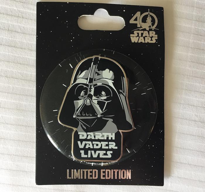 Darth Vader Lives Disney Pin