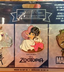 Disney Store 30th Anniversary Pins Week 10