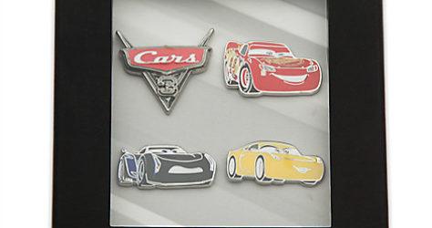 Disney Store Cars 3 Box Pin Set