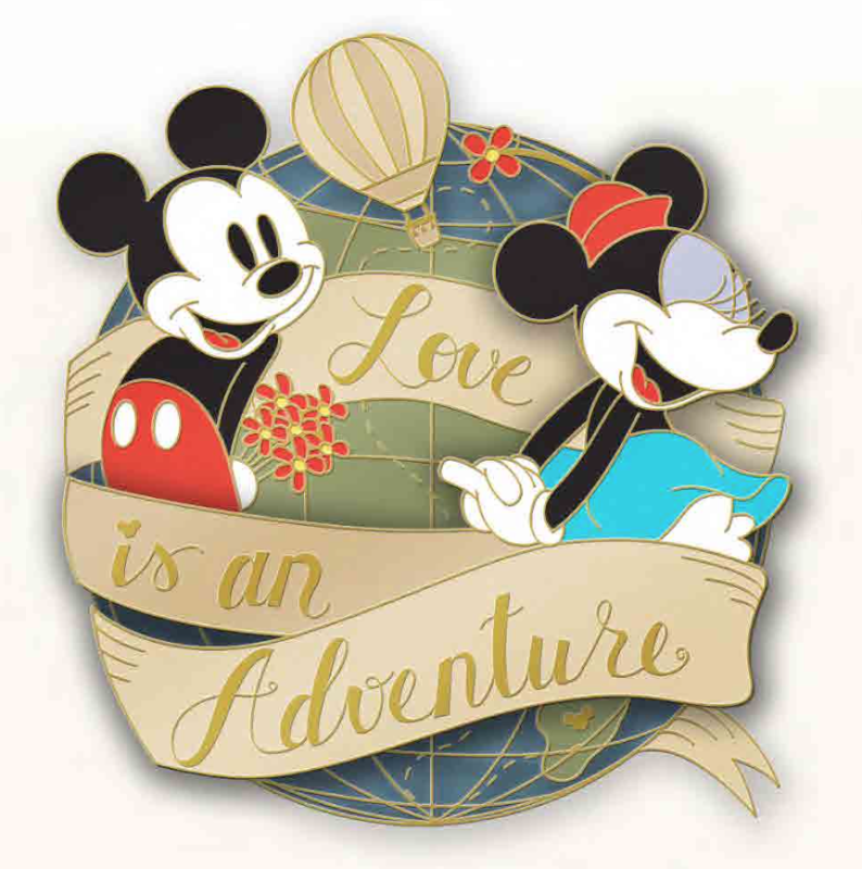 Love is an Adventure Logo Pin