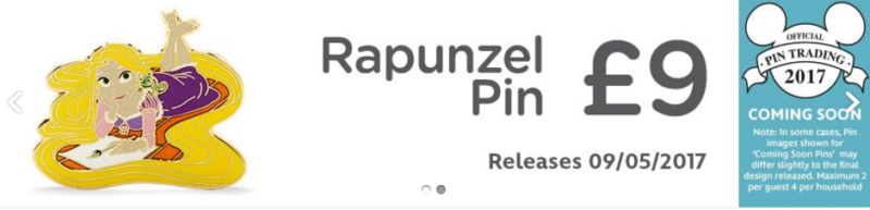 Rapunzel Pin – Disney Store UK