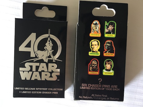 Star Wars 40 Years Mystery Pin Collection