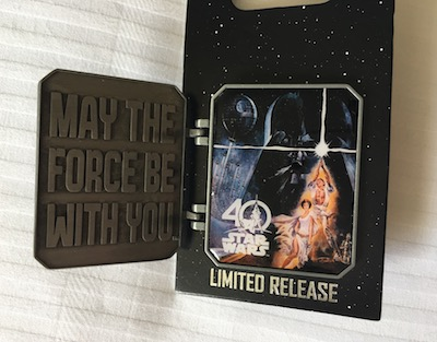 Star Wars Celebration 40 Years Pin Open