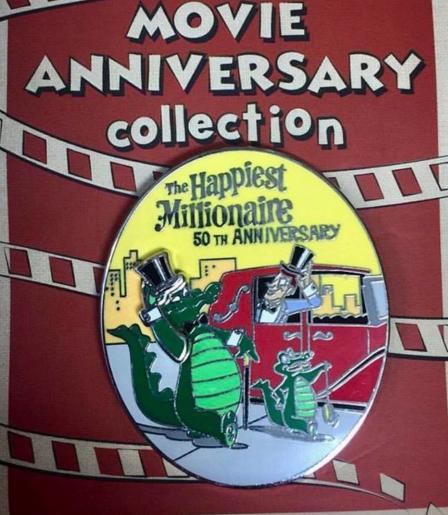 Cast Member Movie Anniversary Happiest Millionaire Pin