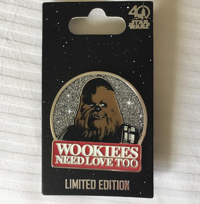 Wookiees Need Love Too Disney Pin