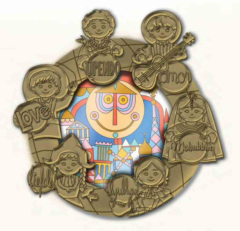it's a small world Mini Jumbo Pin