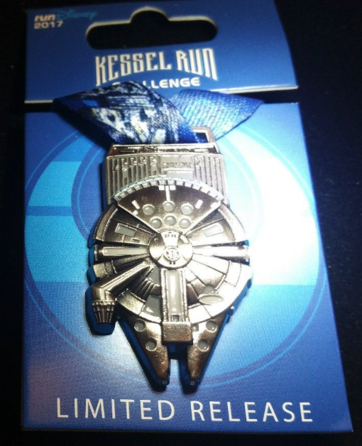 runDisney Star Wars The Dark Side 10K Medal Pin 2017