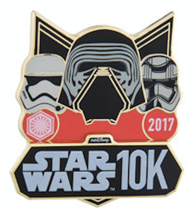 runDisney Star Wars The Dark Side 10K Pin 2017