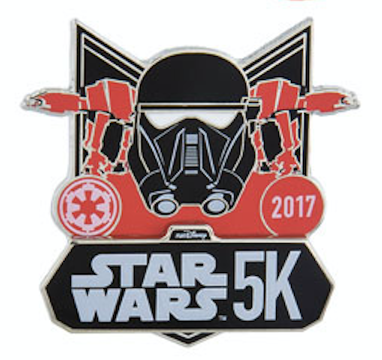 runDisney Star Wars The Dark Side 5K Pin 2017