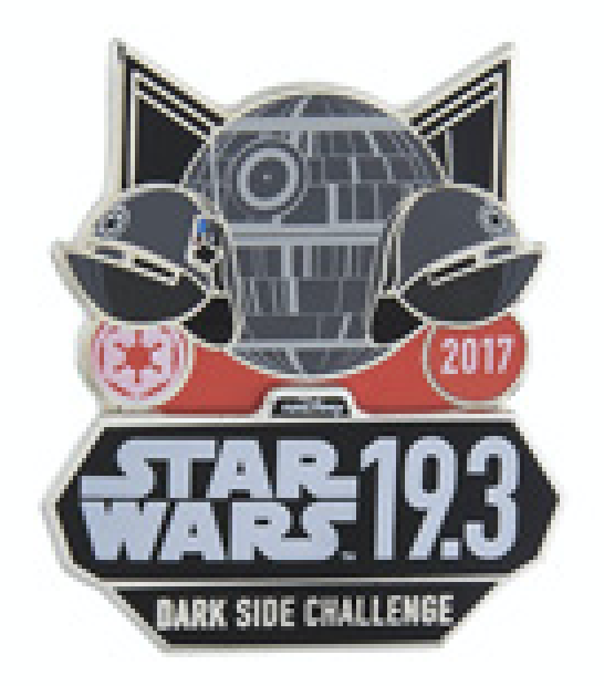 runDisney Star Wars The Dark Side Challenge Pin 2017