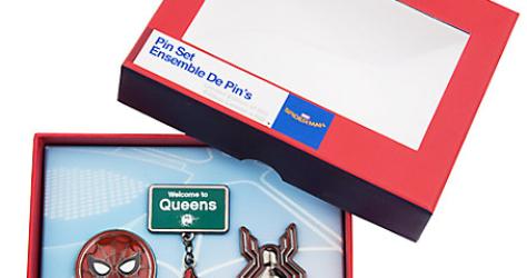 Disney Store Spider-Man Homecoming Pin Set