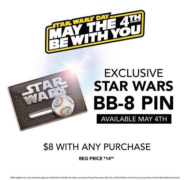 Disney Store Star Wars BB-8 Pin Promotion