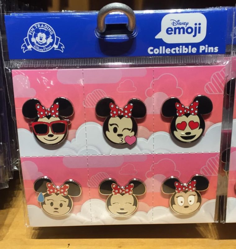Minnie Mouse Emoji Disney Pin Set