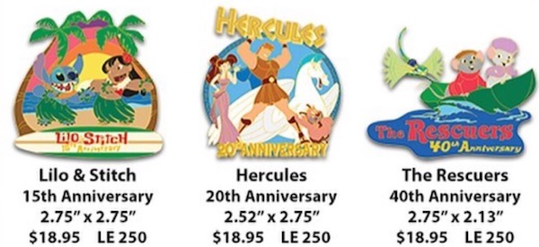 Movie Anniversary WDI Pins 2017