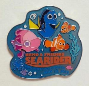Nemo & Friends Searider Opening Day Pin 2017