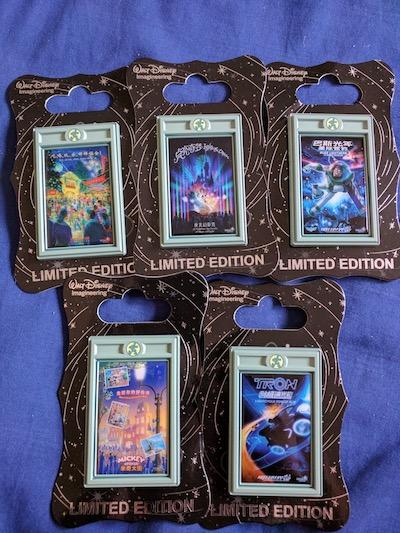 Shanghai Disneyland Attraction Poster Pins 1