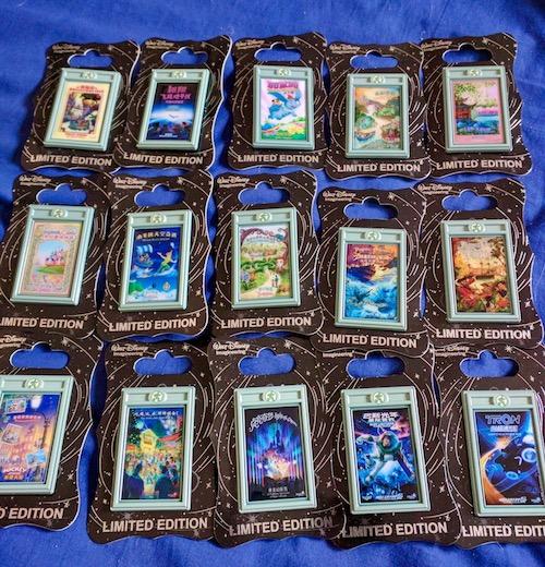 Shanghai Disneyland Attraction Poster Pins