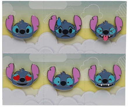 Stitch Emoji Pins