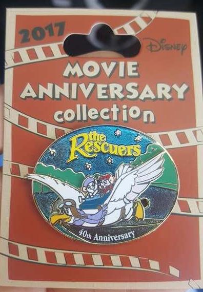 Cast Member Movie Anniversary Rescuers Pin