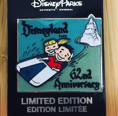 Disneyland 62nd Anniversary Pin