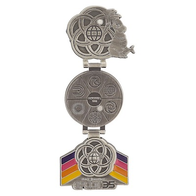 Epcot 35th Anniversary Double Hinged Pin