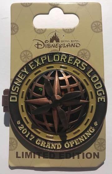 Hong Kong Disneyland Explorers Lodge Pin- Grand Opening