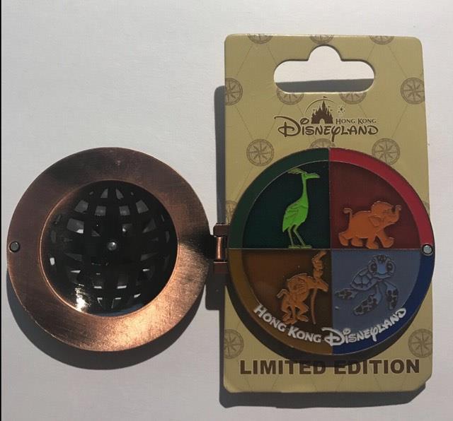 Hong Kong Disneyland Explorers Lodge Pin - Open