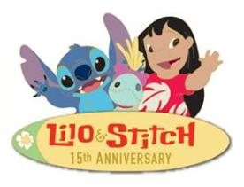 Lilo & Stitch 15th Anniversary Pin - DSSH