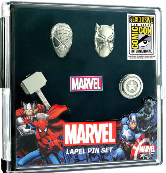 Marvel Comic Con 2017 Pin Set