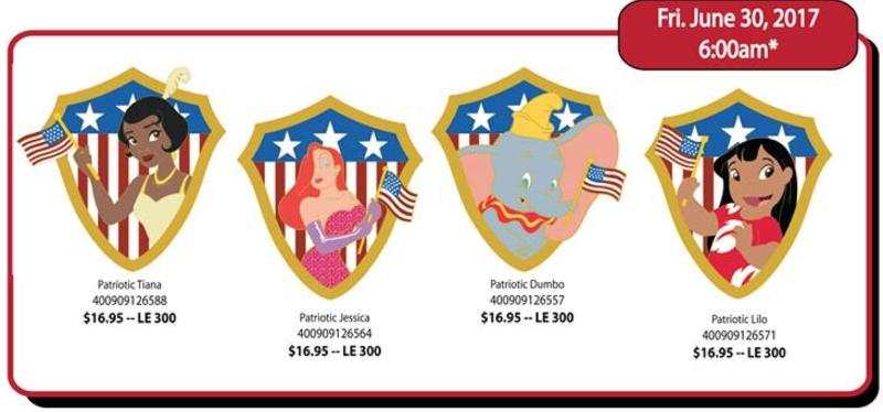 Patriotic Disney Pins - DSSH
