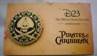 Pirates of the Caribbean D23 Event Pin