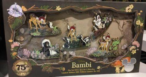 Bambi 75th Anniversary Pin Set - D23 Expo 2017