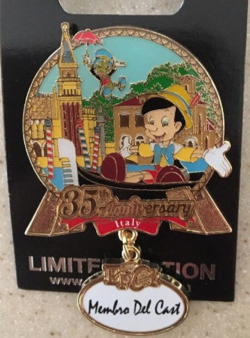 Cast Member 35th Anniversary Italy Pin – Epcot