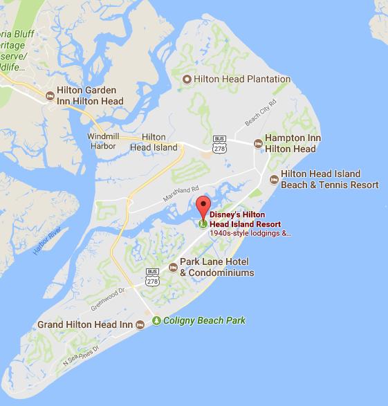Map Of Hilton Head Island S