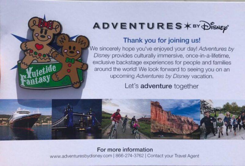Disney's Yuletide Fantasy Tour Pin