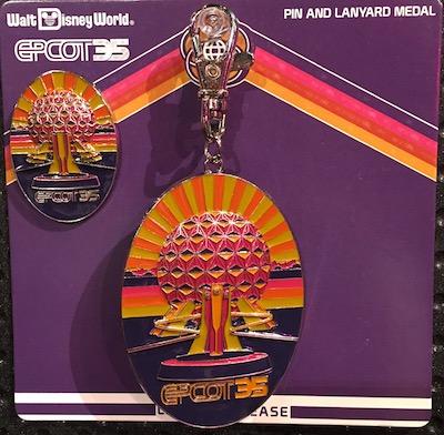 Epcot 35th Lanyard Medal and Pin