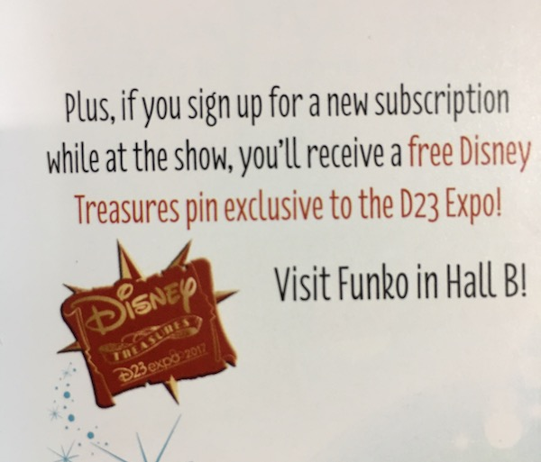 Funko Disney Treasures Pin - D23 Expo 2017