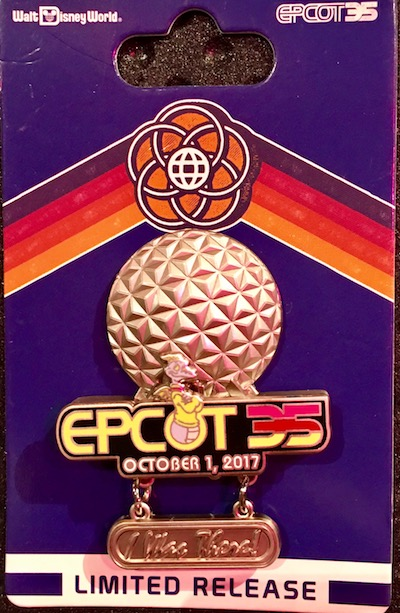 I Was There! Disney Pin - Epcot 35th