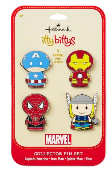 Itty Bitty Marvel Pins - Hallmark