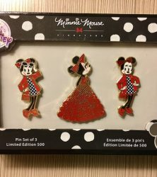 Minnie Mouse Signature Pin Set - D23 Expo 2017
