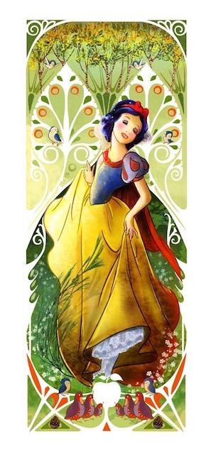 Snow White Mucha Pin
