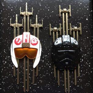 Star Wars Jumbo Helmet Pin Set
