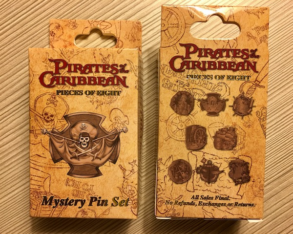 WDI Pirates of the Caribbean Mystery Pin Set